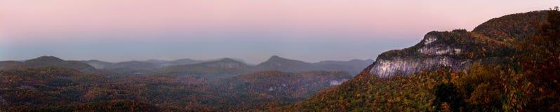 аппалачская панорама осени стоковые изображения rf