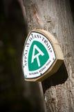 аппалачская тропка знака Стоковые Фотографии RF