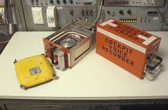Аппаратура записи переговоров членов экипажа черного ящика Стоковое Фото