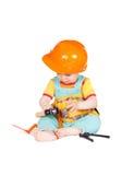 Аппаратуры игрушки младенца и детей на белой предпосылке Стоковые Фото