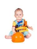 Аппаратуры игрушки младенца и детей на белой предпосылке Стоковое Фото