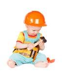 Аппаратуры игрушки младенца и детей на белой предпосылке Стоковое Изображение RF
