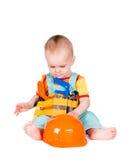 Аппаратуры игрушки младенца и детей на белой предпосылке Стоковая Фотография RF