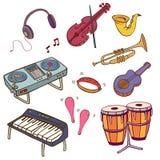 Аппаратуры музыки Стоковые Изображения RF
