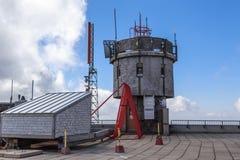 Аппаратуры погоды на Mt Вашингтон, NH, США Стоковое Изображение RF