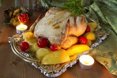 Аппетитная жареная курица Стоковые Фотографии RF