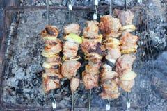 Аппетитное зажаренное барбекю Стоковые Изображения RF