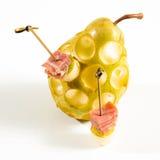 аппетитно Творческая кухня Ветчина с грушей стоковое изображение
