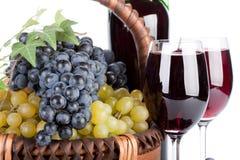 аппетитные виноградины корзины Стоковое Изображение