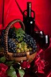 аппетитные виноградины корзины Стоковые Фотографии RF