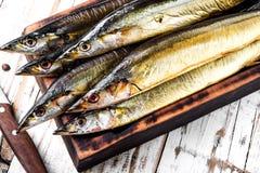 Аппетитные копченые рыбы стоковое изображение rf