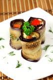 аппетитные крены aubergines Стоковое Изображение RF