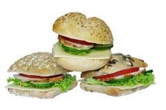 Аппетитные сандвичи стоковая фотография rf