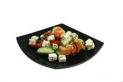 аппетитный греческий салат плиты Стоковая Фотография