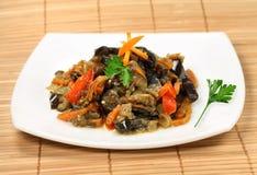 аппетитный салат aubergine стоковое фото
