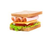 аппетитный сэндвич с ветчиной сыра Стоковая Фотография