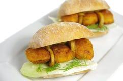 2 аппетитных сандвича Стоковое Изображение RF