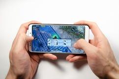 Апрель 2019 Kramatorsk, Украина Мобильные применение и игры стоковое изображение rf