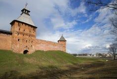 Апрель около Кремля в Veliky Новгороде, России стоковая фотография rf