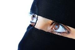 арабская азиатская мусульманская женщина стоковое изображение rf