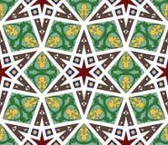 Арабская безшовная иллюстрация вектора картины Стоковые Изображения