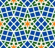 Арабская безшовная иллюстрация вектора картины Стоковое Изображение