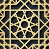 Арабская безшовная картина с влиянием 3D для праздничного дизайна брошюры, вебсайт, печать также вектор иллюстрации притяжки core Стоковая Фотография