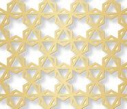 Арабская безшовная картина с влиянием 3D для праздничного дизайна брошюры, вебсайт, печать также вектор иллюстрации притяжки core Стоковые Изображения RF