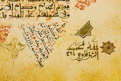 арабская бумага рукописи каллиграфии Стоковые Изображения