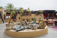 Арабская внешняя кухня на ресторане Стоковые Изображения RF