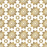 Арабская исламская золотая безшовная картина Стоковое Изображение