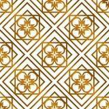 Арабская исламская золотая безшовная картина Стоковая Фотография