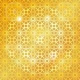 Арабская исламская картина, предпосылка золота геометрическо иллюстрация штока