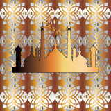 арабская картина безшовная Мечеть золота Стоковые Фото