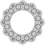 арабская картина круга Стоковое Изображение RF