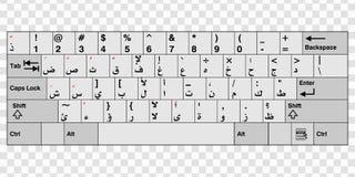 Арабская клавиатура компьютера Стоковые Изображения