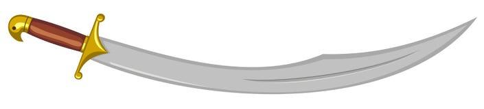 арабская сабля иллюстрация вектора