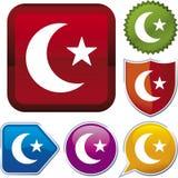 арабская серия иконы иллюстрация штока