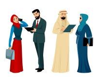 Арабские бизнесмены и коммерсантки Стоковые Изображения RF