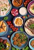 Арабские блюда и meze стоковое фото rf