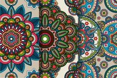 Арабские или индийские круглые орнаменты Стоковое Изображение RF