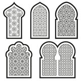 Арабские или исламские установленные окна Стоковое Фото