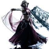 Арабские танцы исполнительницы танца живота женщины Стоковое фото RF