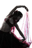 Арабские танцы исполнительницы танца живота женщины Стоковые Фотографии RF