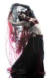 Арабские танцы исполнительницы танца живота женщины Стоковое Фото