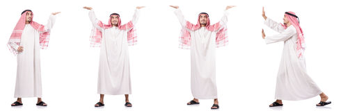 Арабский бизнесмен изолированный на белизне Стоковая Фотография