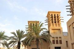 арабский ветер башен захода солнца здания Стоковое фото RF