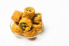Арабский десерт при изолированная фисташка Стоковое Фото