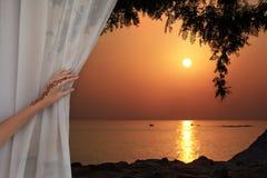 Арабский заход солнца Стоковое Изображение