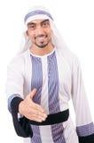 Арабский изолированный бизнесмен Стоковая Фотография